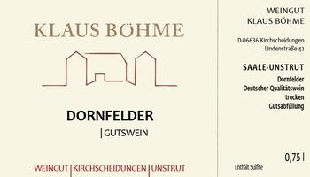 Dornfelder DQW trocken 2019 - Weingut Klaus Böhme