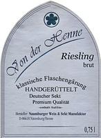 Riesling Sekt brut - Naumburger Wein- und Sektmanufaktur
