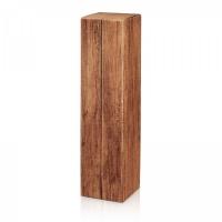 Faltschachtel Holzoptik für 1 Flasche