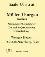 Müller-Thurgau DQW trocken 2020 - Weingut Herzer