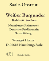Weißburgunder Kabinett trocken 2020 - Weingut Herzer