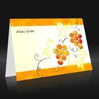 Grußkarte Weinranke